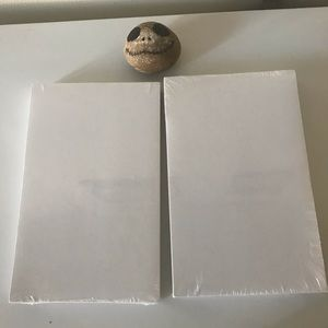 Two white index cards.